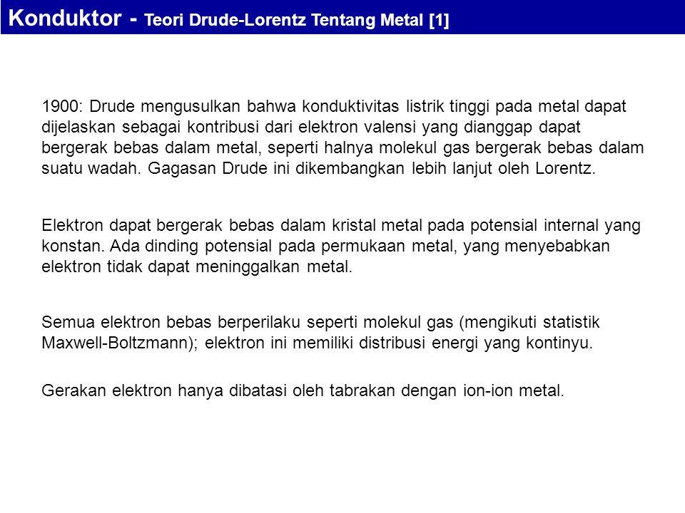 Konduktor - Teori Drude-Lorentz Tentang Metal [1]